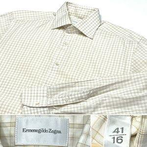 Ermenegildo Zegna Size 16, 41 Striped Dress Shirt